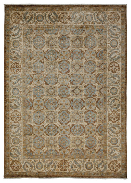 Oushak Wool Area Rug Gold 6x9 Area Rugs By Solo Rugs