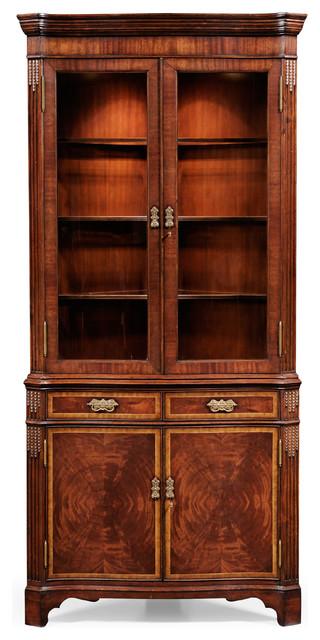 Serpentine Mahogany Corner Cabinet, China Corner Cabinet