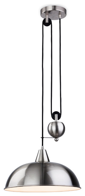 Century Rise and Fall Classic Pendant, Brushed Steel