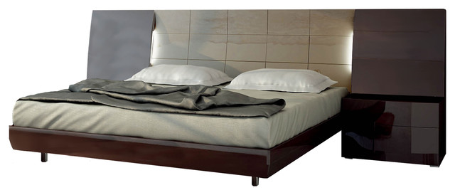 Barcelona Bedroom Set By Fenicia Mobiliario, Spain, Bed U0026 2 Nightstands,  Queen Contemporary