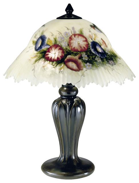 Hummingbird Flower Table Lamp.