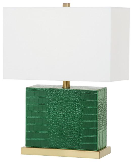 Safavieh Delia 205 Inch High Faux Crocodile Table Lamp