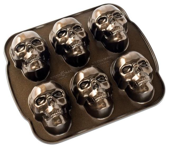 Shop Houzz Nordic Ware Haunted Skull Cakelet Baking Pan