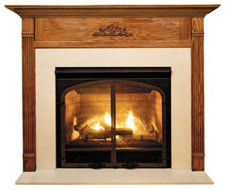 Newport Mdf Primed White Fireplace Mantel Surround - Modern - Fireplace Mantels - by Shop Chimney