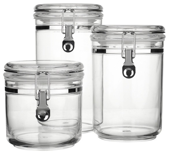 john lewis acrylic storage canisters clear contemporary ceramic mason jar canisters cream set of 4 farmhouse