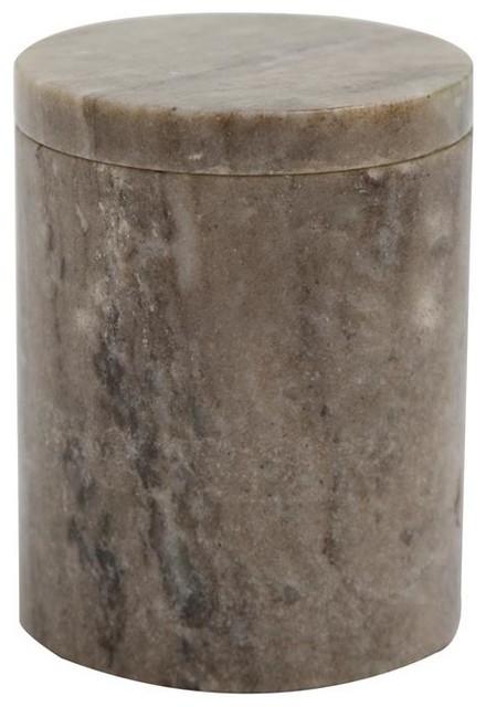 Round Marble Box, Medium, Latte