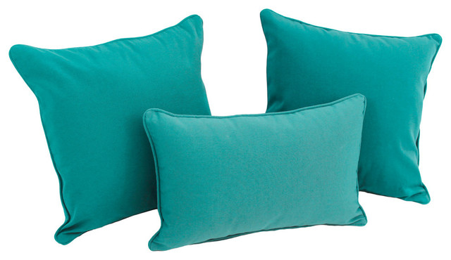 Solid Twill Throw Pillows with Inserts, Set of 3, - Decorative Pillows - by Blazing Needles