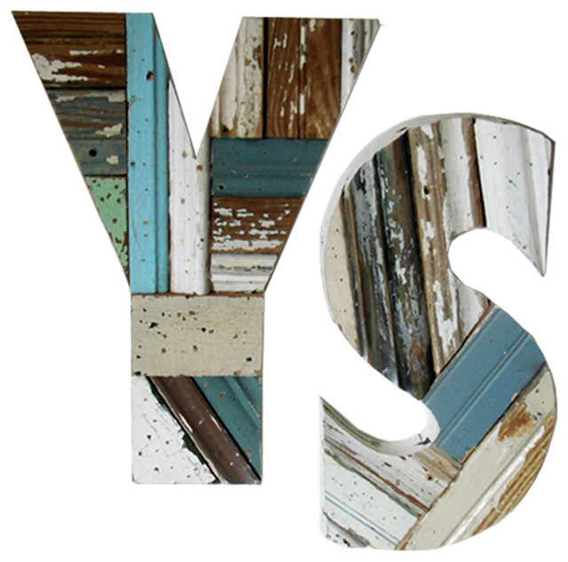Patch wood letters eclectic wall letters atlanta by iron