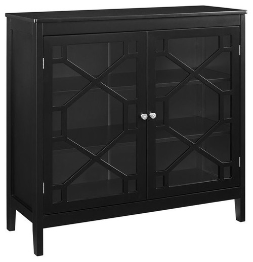 Linon Betty Black Large Cabinet