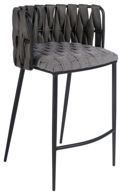 Milano Counter Chair, Gray