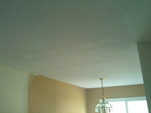 Popcorn ceiling texture is contractor s work acceptable