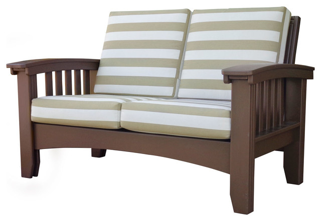 Cypress Mission Lounge Light Brown Craftsman Outdoor