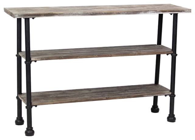 Exceptional Palmer 3 Shelf Console Table Industrial Console Tables