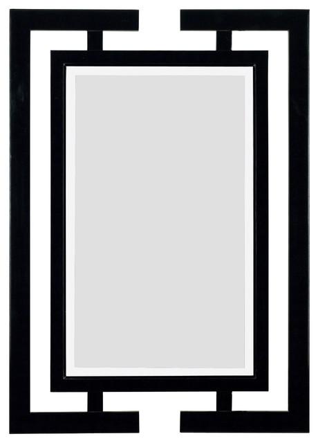 Shinto Wall Mirror, Gloss Black Finish.