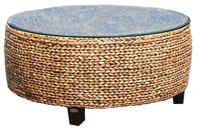 Woven Lily Coffee Table Beach Style Coffee Tables By Chic Teak