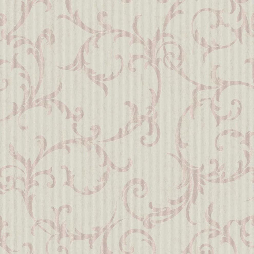 Empress Scroll Rose Gold Wallpaper Contemporary Wallpaper By