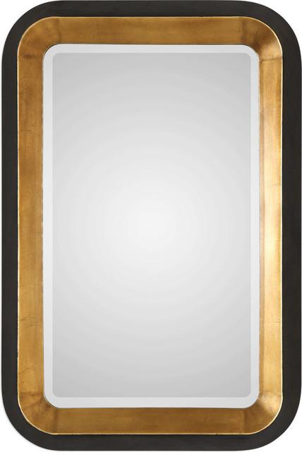 Niva Metallic Gold Wall Mirror, Gold.