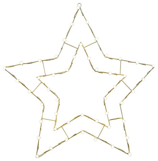48x48 Led White 5 Point Star Motif.