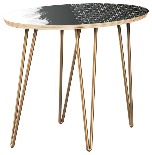 Ondine Hairpin Side Table   Starlight Abstraction