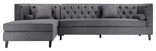 Malcolm Laf Sectional, Gray.