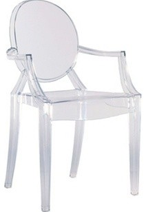 Arm Chair by Lamoderno, Clear, Qty 1