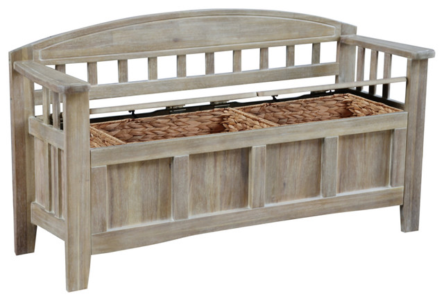 Aria Storage Bench Farmhouse Accent And Storage Benches
