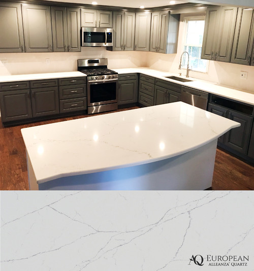 Kitchen Remodel With Marble Like Quartz Countertops
