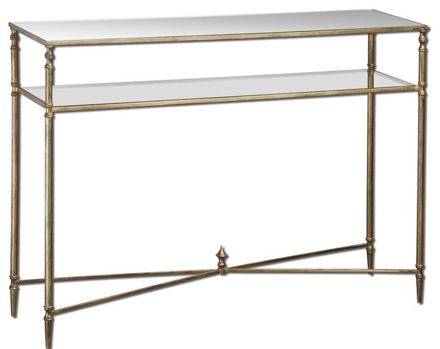 Uttermost Uttermost Henzler Mirrored Glass Table Reviews Houzz