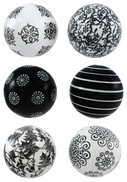 Black And Silver Decorative Balls Unique Black And White Decorative Balls Decorating Inspiration