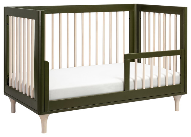 Babyletto Lolly 3-in-1 Convertible Crib, Olive and Washed Natural