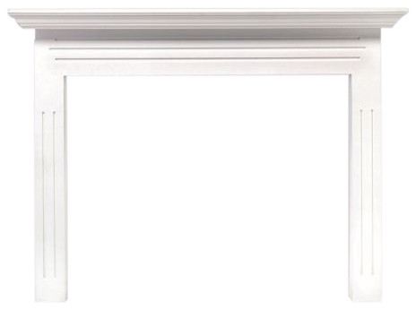 The Newport 48 Fireplace Mantel Mdf In White Paint.