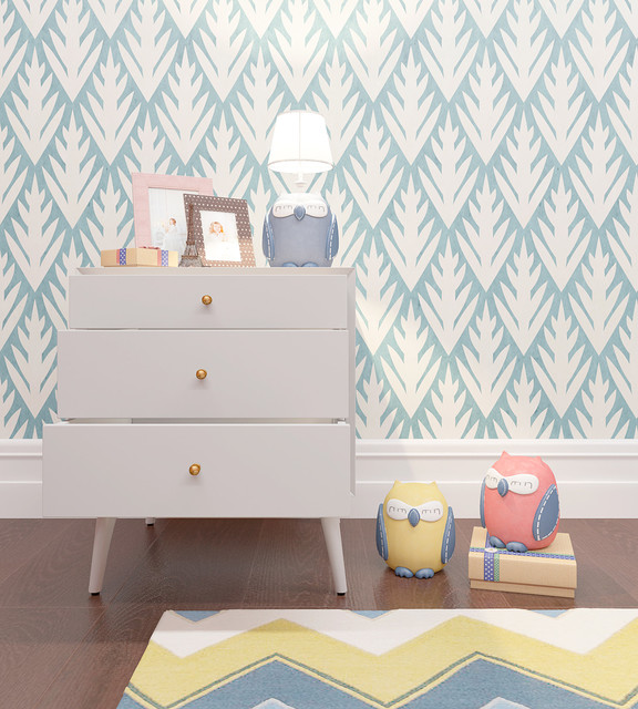 Floral Pattern Stencil for Kids Room Decor scandinavian-wall-stencils