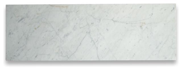 "12""x36"" Carrara White Marble Subway Tile Polished Italian Carrera, Set Of 70."