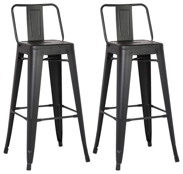 Felix Stools, Set Of 2, Black, 30.