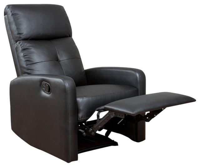 Teyana Black Leather Recliner Club Chair.