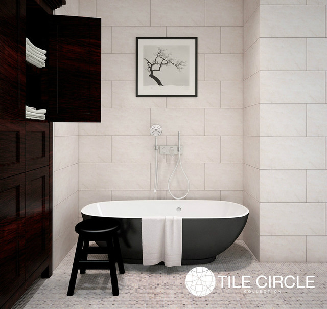 Aspen White Marble Bathrooms Contemporary