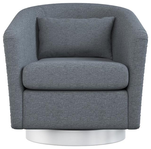 Mychelle Quilted Modern Swivel Tub Chair Modern