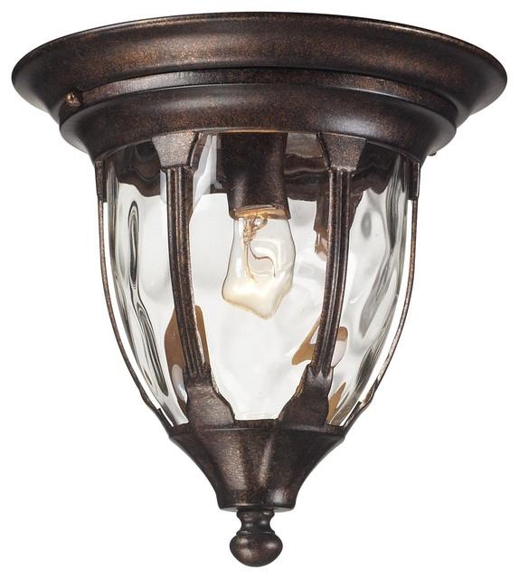 Elk Lighting Glendale 45004/1 1-Light Outdoor Flush Mount Ceiling Fixture.