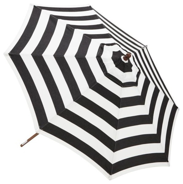 Sunbrella Round Umbrella, Awning Stripe