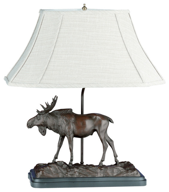 Bull Moose Lamp Rustic Table Lamps