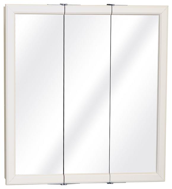 Zenith White Tri-View Medicine Cabinet.