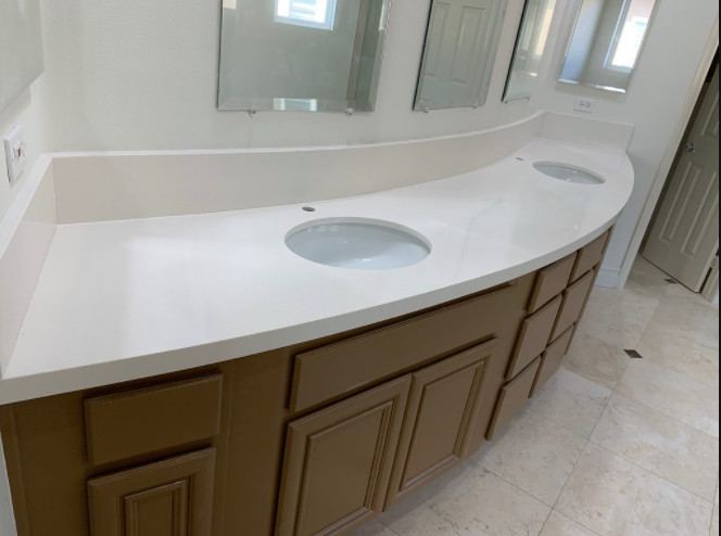 Dana Point Marble Bathroom
