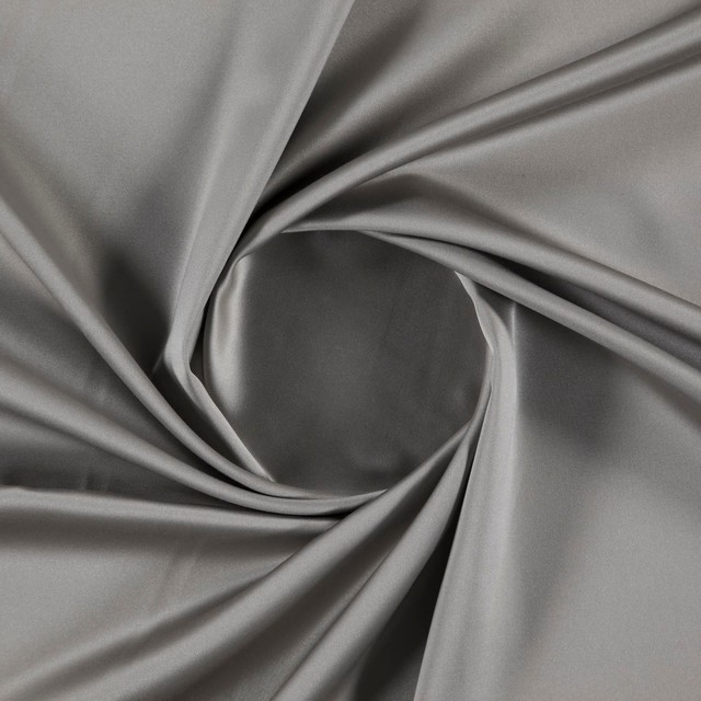 Sakura 020 Flat Weave Plain Fire Retardant Fabric, Grey, 1 metre