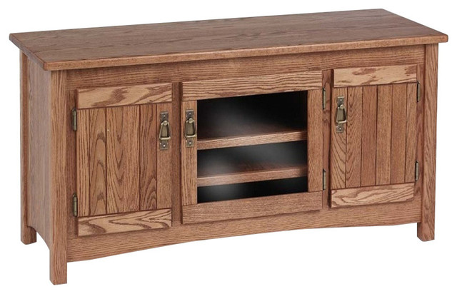 Mission Solid Wood Oak Tv Cabinet Tall 51 Traditional Entertainment Centers And Stands By The Furniture