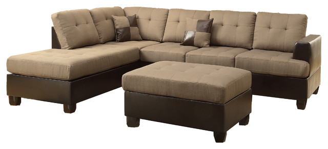hamar sectional with matching ottoman and pillows transitional sectional sofas by. Black Bedroom Furniture Sets. Home Design Ideas