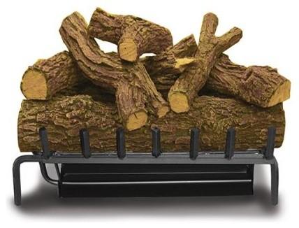 Elite Triple Natural Gas Burner With Red Oak Log Set/electronic Ignition, 18.