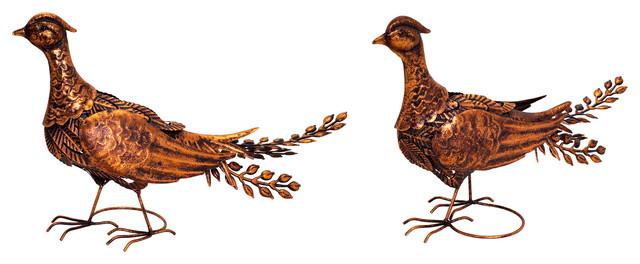 Pheasant, Set Of 2.