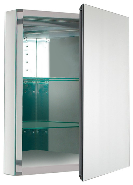 Fresca fmc8058 20 wide bathroom medicine cabinet with for Bathroom cabinets 20 inches wide