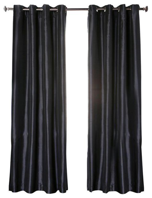 Shop Houzz | Best Home Fashion Dupioni Faux Silk Grommet Top ...