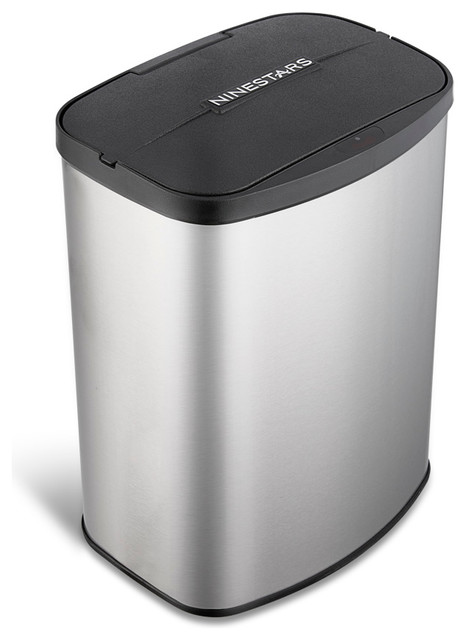 Nine Stars Trash Can With Motion Sensor Lid Stainless